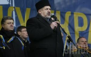 Крымские татары начинают митинг за единство Украины в Симферополе