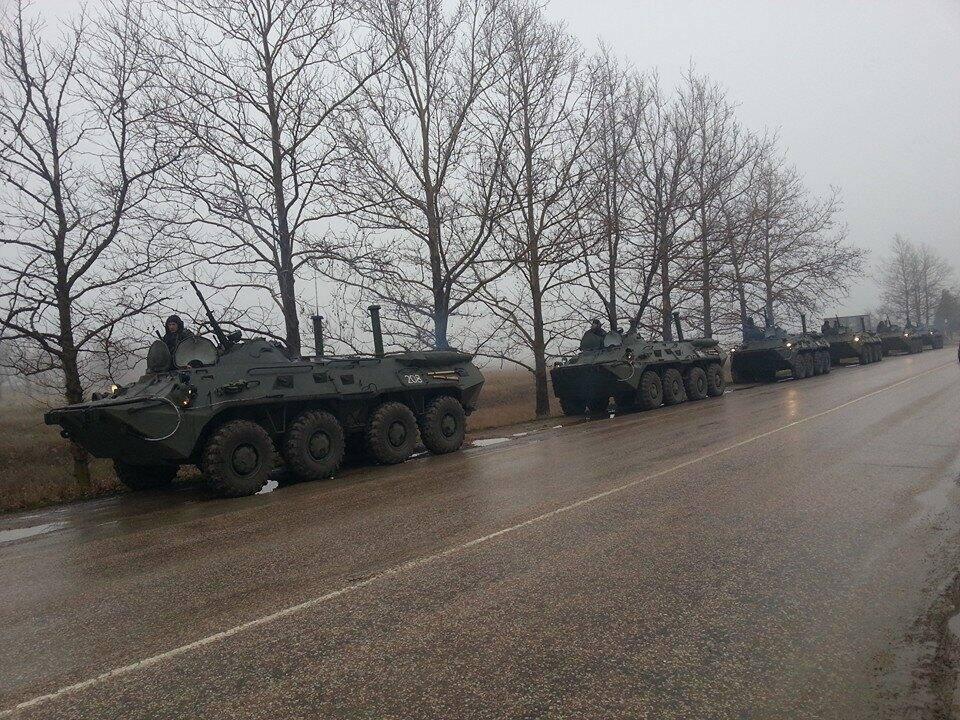 Российские войска направляются к Харьковской области