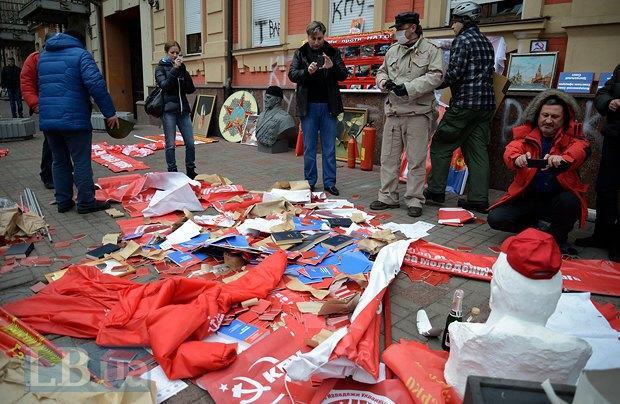 В Киеве разгромили офис коммунистов