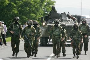 Российские войска направились в центр Крыма