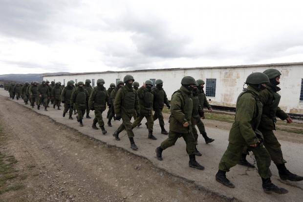 Видео захвата военной части в Бельбеке