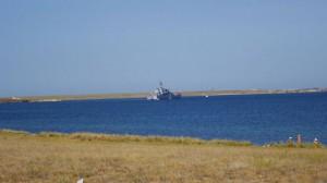 Россияне затопили в Крыму два корабля -