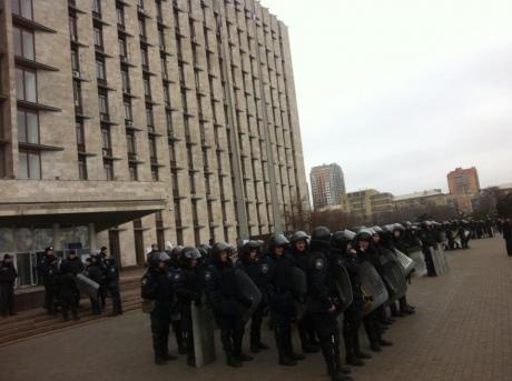 Здание Донецкой ОГА освободили от митингующих