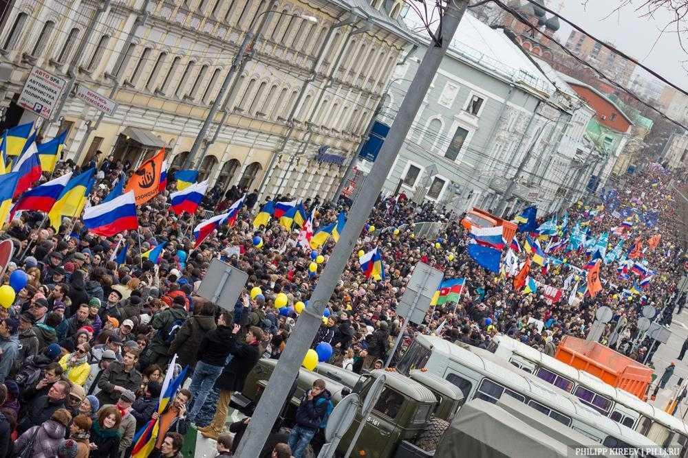 Как россияне скандировали «Слава Украине» в центре Москвы