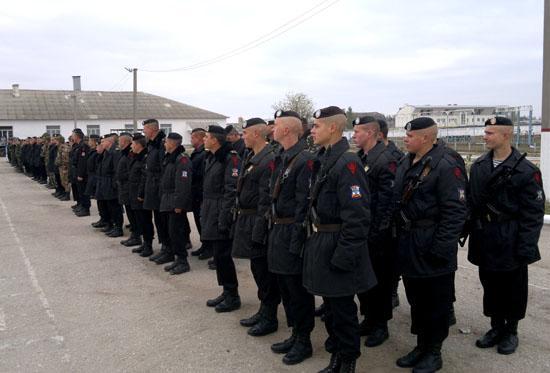 В Геническ прибыли феодосийские морпехи