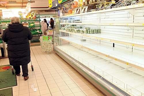 В Крыму началась продовольственная паника