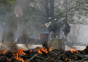 АТО в Славянске: сбитые вертолеты, перестрелки