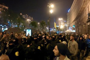 На Майдане Независимости массовая драка