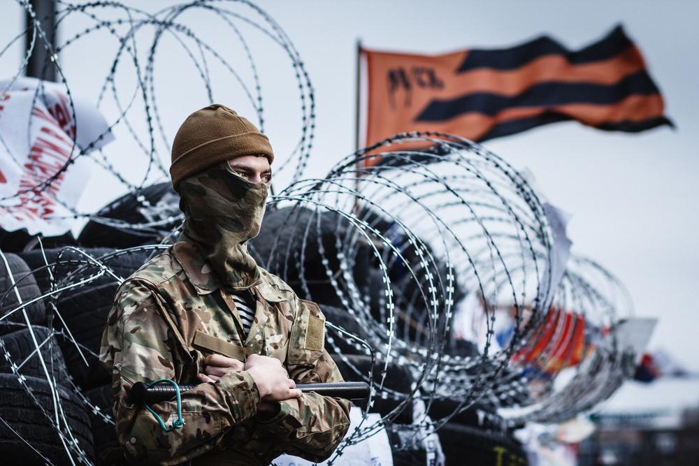 Штурм воинской части в Мариуполе. Видео