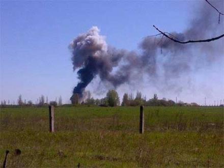 В Краматорске взорвался украинский вертолет