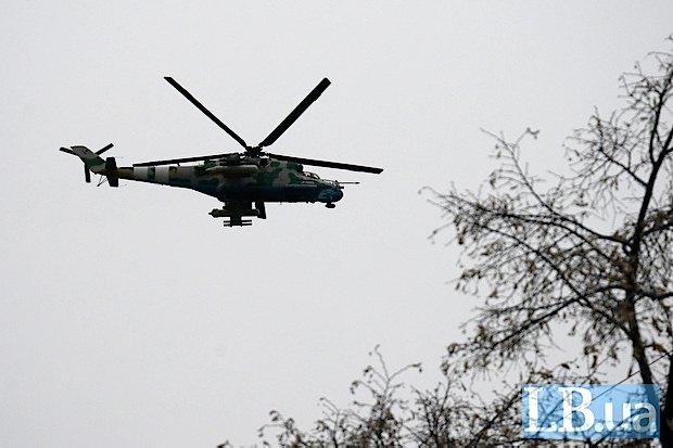 Российские вертолеты нарушили воздушное пространство Украины