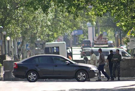 В центре Донецка появился блокпост ДНР