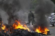 В Славянске начались боевые действия возле телебашни