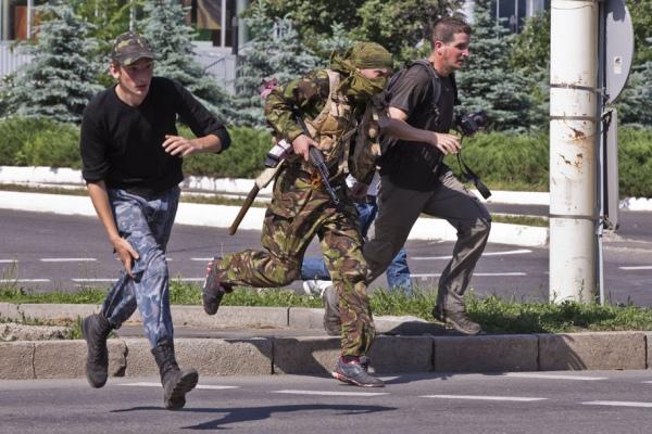 СМИ: В Донецке эвакуируют торговый центр