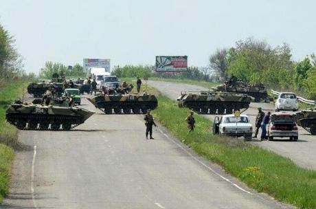 Украинские силовики взяли Славянск в кольцо, есть пострадавшие