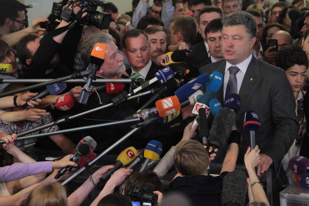 Как голосовал  Порошенко