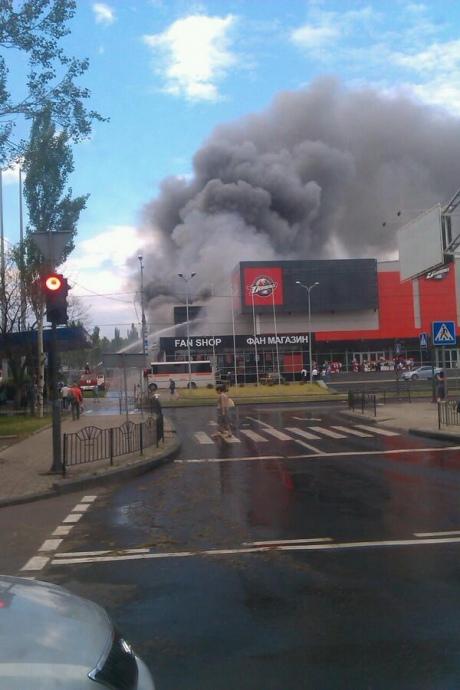Боевики подожгли арену хоккейного клуба