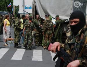 Сепаратисты в Донецке проверяют паспорта на вокзале и в общежитиях