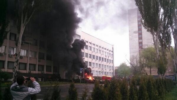 В Мариуполе силовики штурмуют горсовет