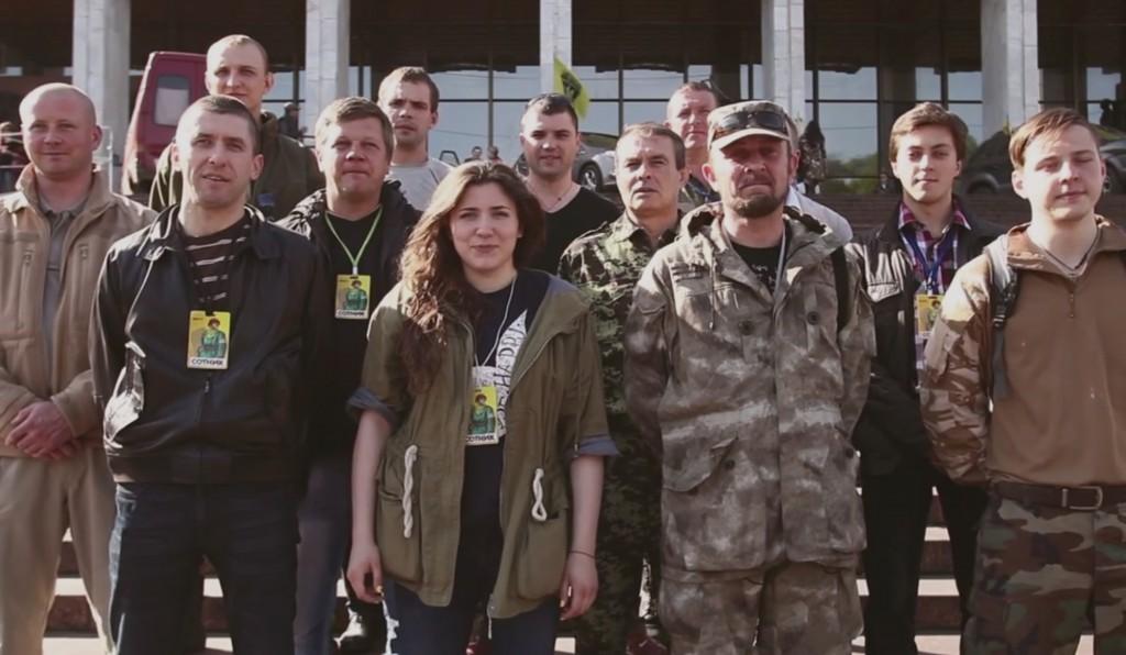 Сотники Майдана поздравляют ветеранов (видео)