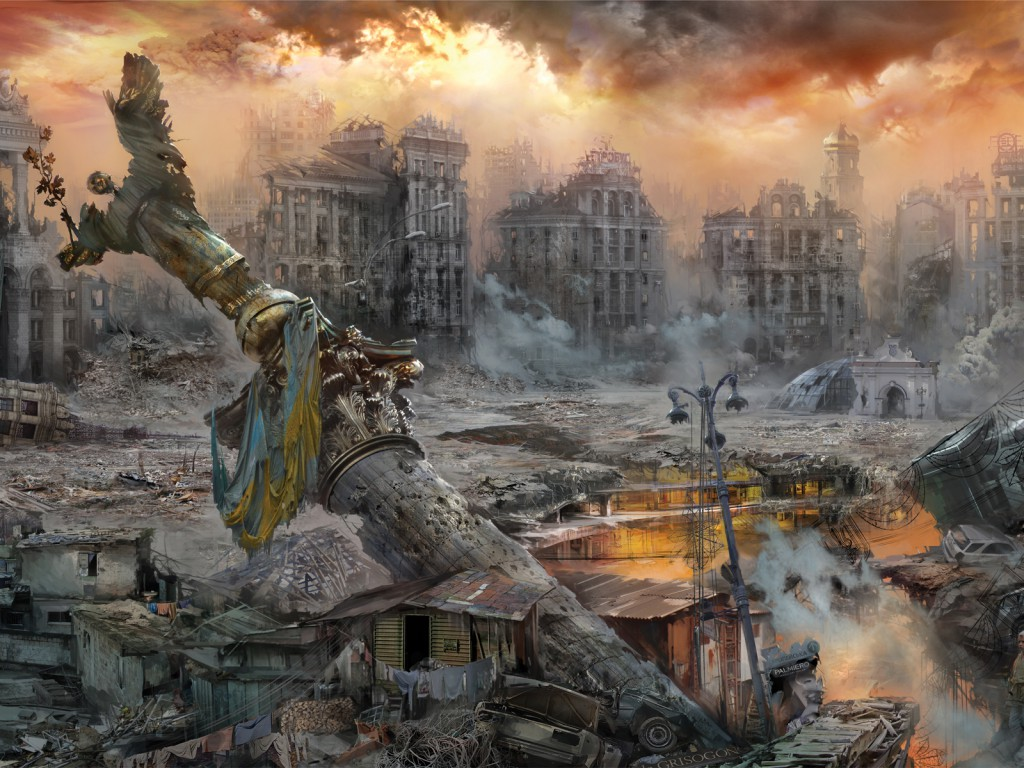 Ночью на Майдане горела баррикада. Видео