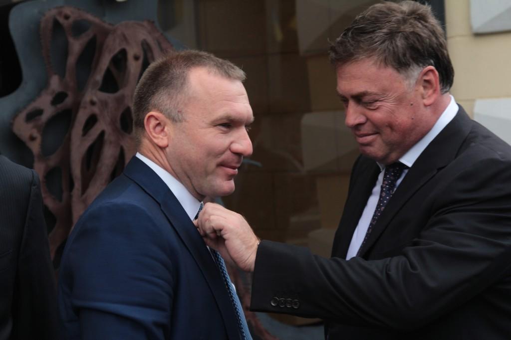 гендиректор Concord Capital Игорь Мазепа и Председатель Совета директоров Индустриальной группы УПЭК Анатолий Гиршфельд