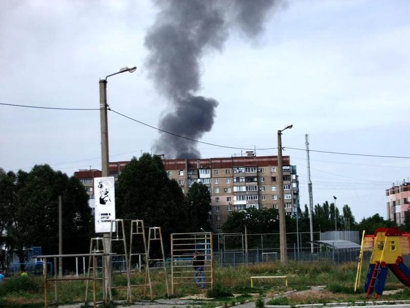 Дзержинск - после вчерашних боев. Фото