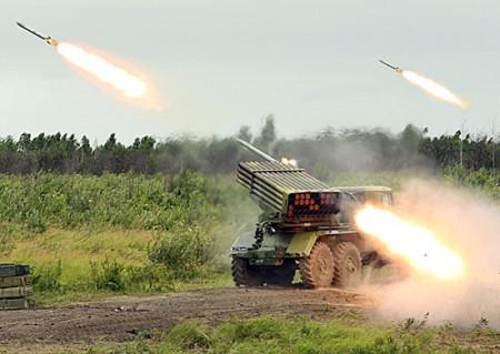 Боевики из установки «Град» подбили БМП-2