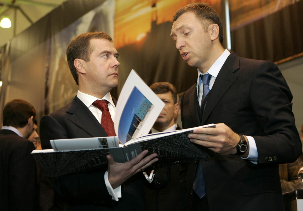 RUSSIA-VOTE-MEDVEDEV-DERIPASKA