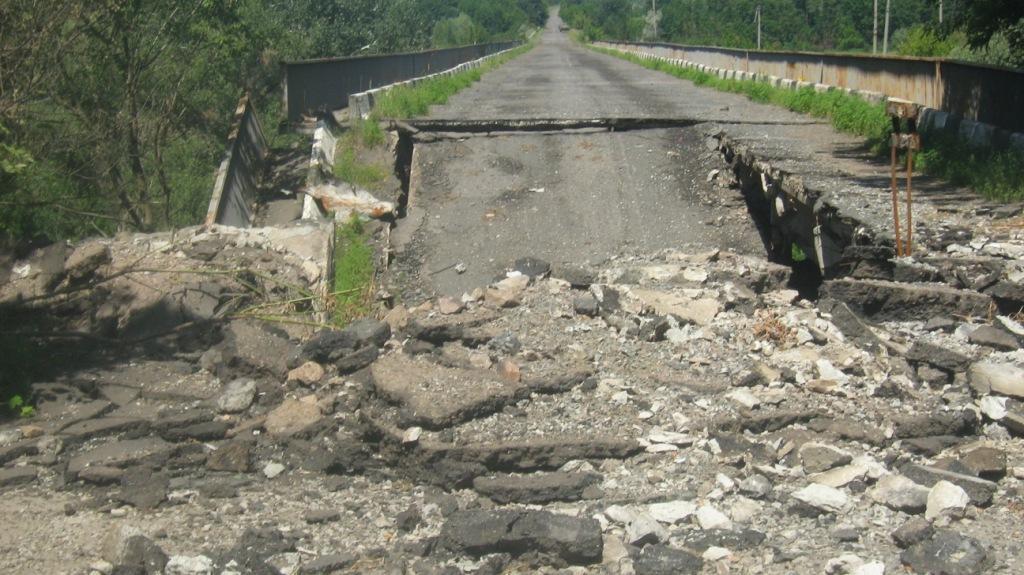 Взрыв моста между Горловкой и Дзержинском. Видео