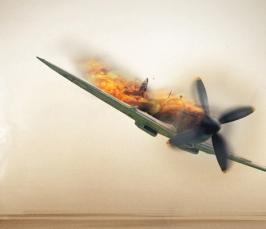 Над Харцизском боевики сбили украинский самолет. Фото