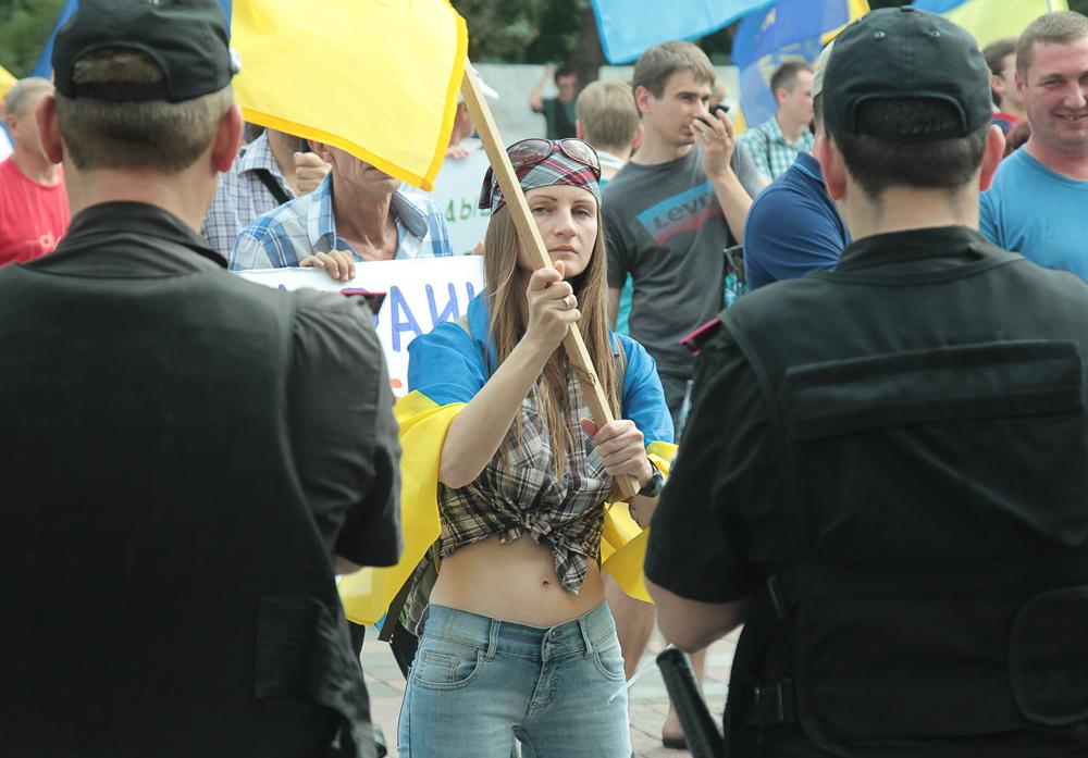 Митинг под Радой. Фоторепортаж