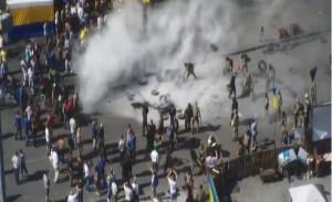 На Майдане подожгли шины. Фото
