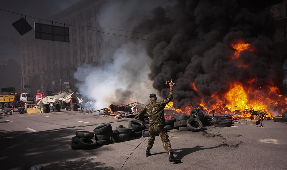 На Майдане задержали диверсантов с гранатами и гранатометом