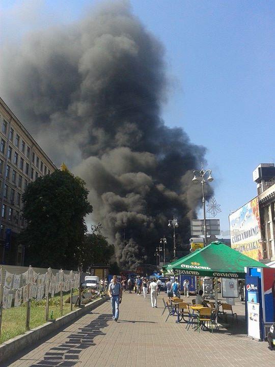 Станцию метро «Майдан Незалежности» закрыли на выход