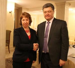 В Минске началась встреча Порошенко и Эштон