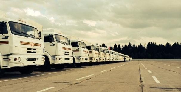 РФ изменила маршрут колонны с гуманитарной помощью для Украины