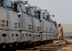 Киев требует от России прекратить провокации с «гуманитарным конвоем»