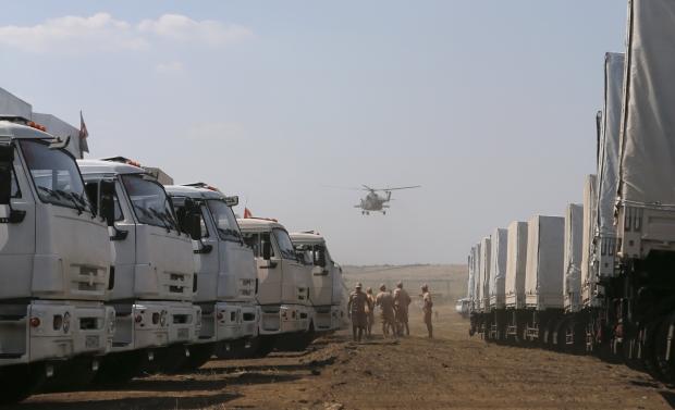МИД назвал незаконным вхождение российского гуманитарного конвоя в Украину