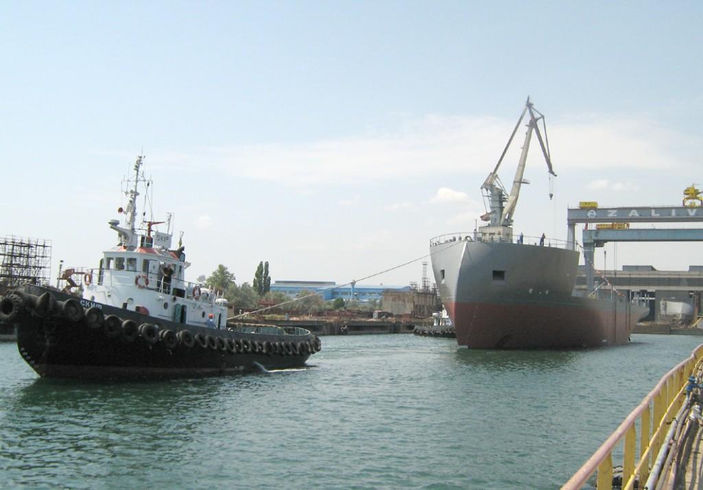 Украинский корабль  сбил российский беспилотник