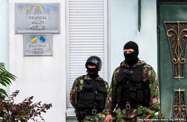 В Крыму захватили здание Меджлиса