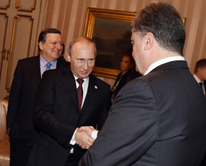 Порошенко пожал руку Путину в Милане. Фото
