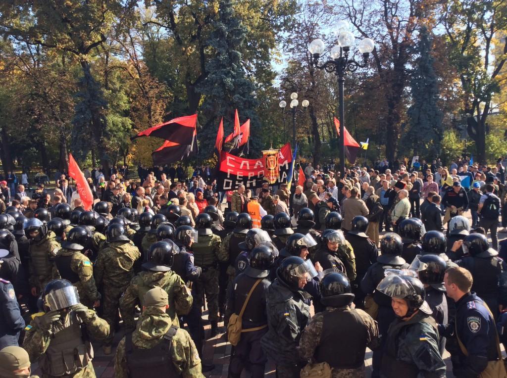 Милиция задержала 50 митингующих под Радой