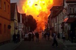 В Германии взорвался газопровод «Газпрома». Фото