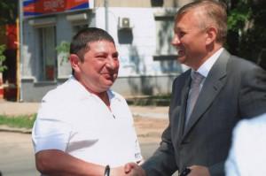 Вадим Вишневский (слева) с главой Харьковского облсовета Сергеем Черновім