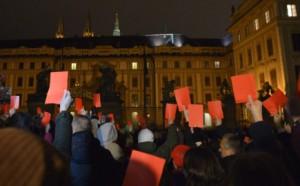 В Чехии прошла акция против президента