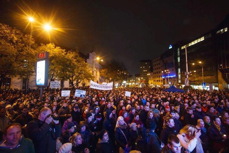Протест в Братиславе, ноябрь 2014
