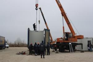 В Запорожье устанавливают модульные дома для переселенцев из зоны АТО. Видео