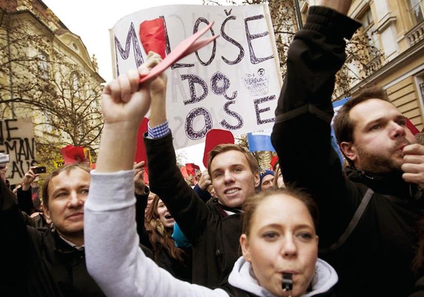 Протест в Праге, 17 ноября 2014