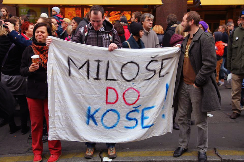 Протест в Праге, 17 ноября 2014 года